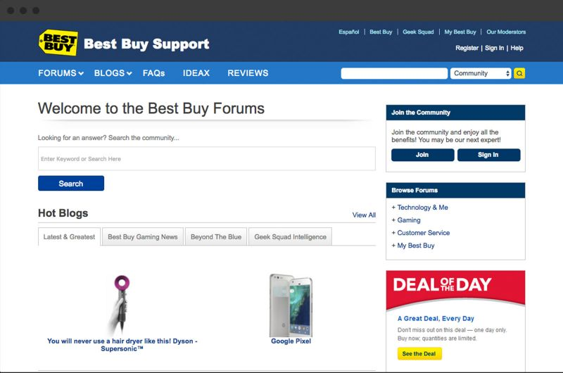 best buy online community platform