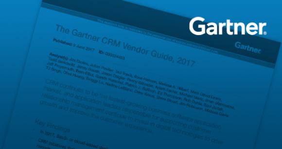 Gartner CRM Vendor Guide, 2017