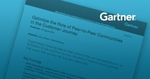 Gartner: Optimize the Role of Peer-to-Peer Communities in the Customer Journey
