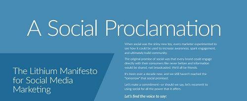 A Social Proclamation: The Lithium Manifesto for Social Media Marketing