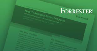Forrester Report: How to Measure Social Programs