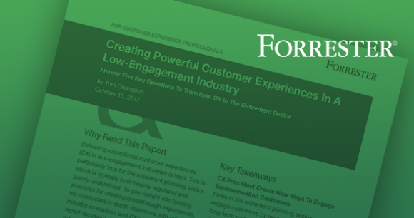 Forrester Report: Creating Powerful Customer Experiences in a Low-Engagement Industry